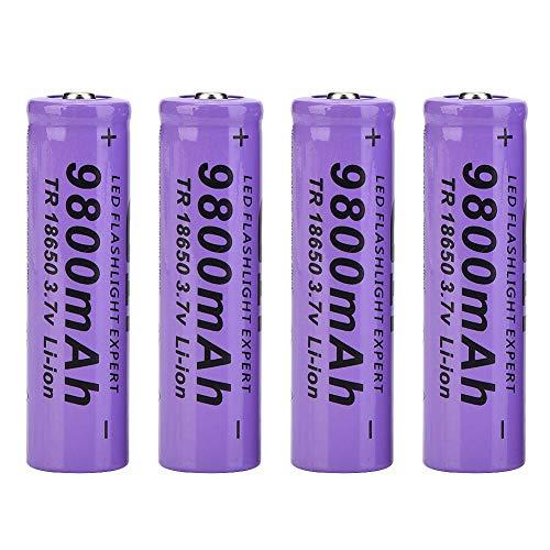 Batería recargable 18650 fácil de llevar de gran capacidad, batería de linterna, para el hogar