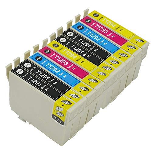 Karl Aiken 10 T1295 - Cartuchos de tinta compatibles con Epson Stylus SX235W SX420W SX425W SX435W SX525WD SX535WD Workforce WF-3520 WF-7515