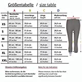 Wellness-Leggins Damen 3/4 mit Tasche | Fitness Sport Leggings Frauen Dreiviertel schwarz Muster (schwarz, L) - 5