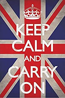British Flag Keep Calm and Carry On Poster