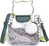 PUNTO UNO Women's Sling Bag with Sequence/Shimmer Pouch Inside (Multicolour)