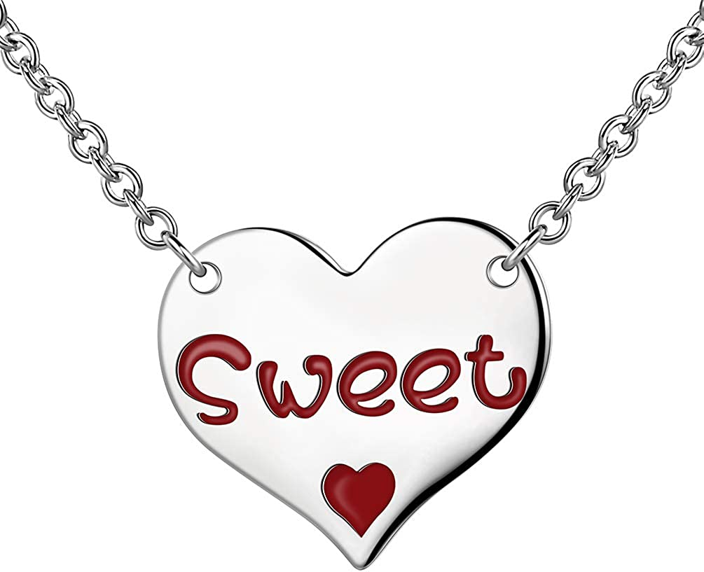 Mail order cheap Besilver Triple Heart Necklace Max 79% OFF for Women Girls Butterfly Antler