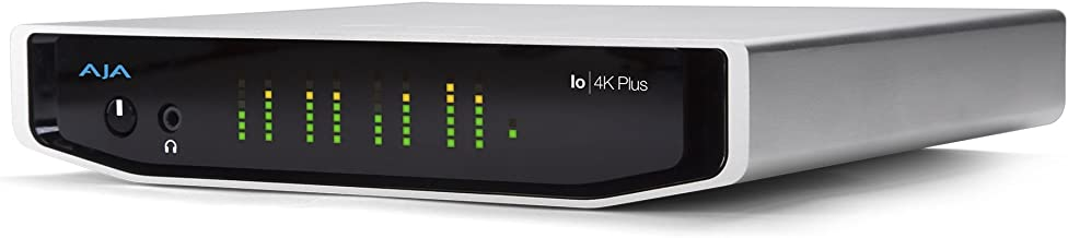 AJA Io 4K Plus Professional Video I/O with Thunderbolt 3 Performance