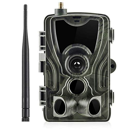 KUANGQIANWEI Wildkamera mit bewegungsmelder nachtsicht HC801M 2g Jagd-Tracking-Kamera Tier-4g Foto Trap HC801LTE 16MP 0.3s Trigger-Hunter-Kamera (Color : HC801M 2g)