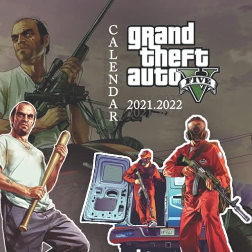 Grand Theft Auto V: 2021 – 2022 Games Calendar – 18 months – 8.5x8.5 High Quality Images