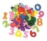 Glorex Zahlen Streuteile für Deko, Filz, Mehrfarbig, 17 x