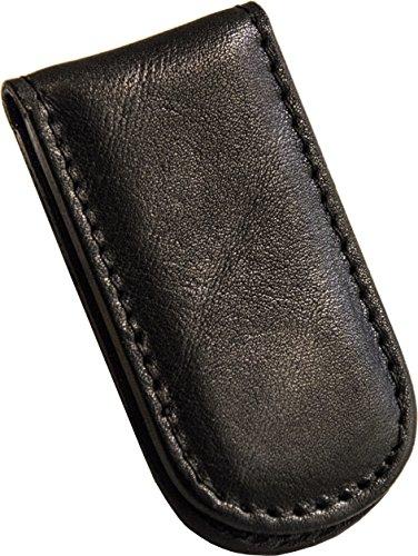 Etabeta Artigiano Toscano - Magnetische geldklammer für Herren aus echtem Leder in der Toskana – Made in Tuscany (Italy) (schwarz 2)