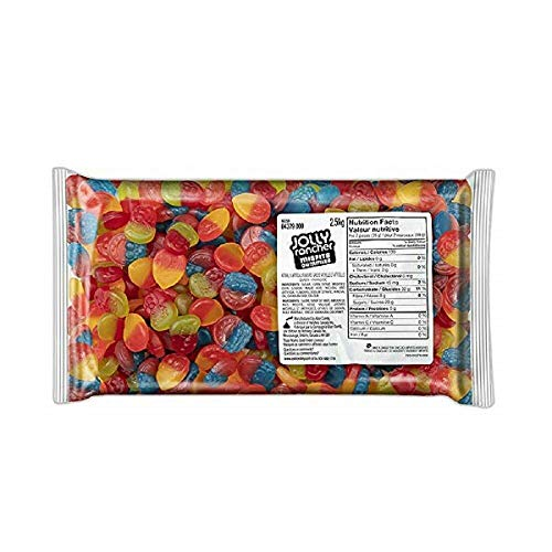 Jolly Rancher Missfit Gummies Halloween Candy, Naturally and Artificially Fruit Flavored, 5 pounds