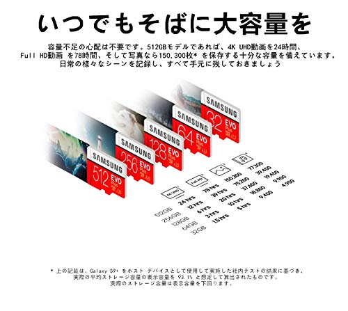 『【Fire, Fire HD 8, Fire HD 10対応】Samsung microSDカード64GB EVOPlus Class10 UHS-I対応 Nintendo Switch 動作確認済 海外リテール MB-MC64G』の4枚目の画像