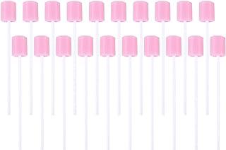 Healifty 200 szt. różowe jednorazowe waciki do czyszczenia ust gąbka do pielęgnacji jamy ustnej gąbki piankowa szczoteczka...