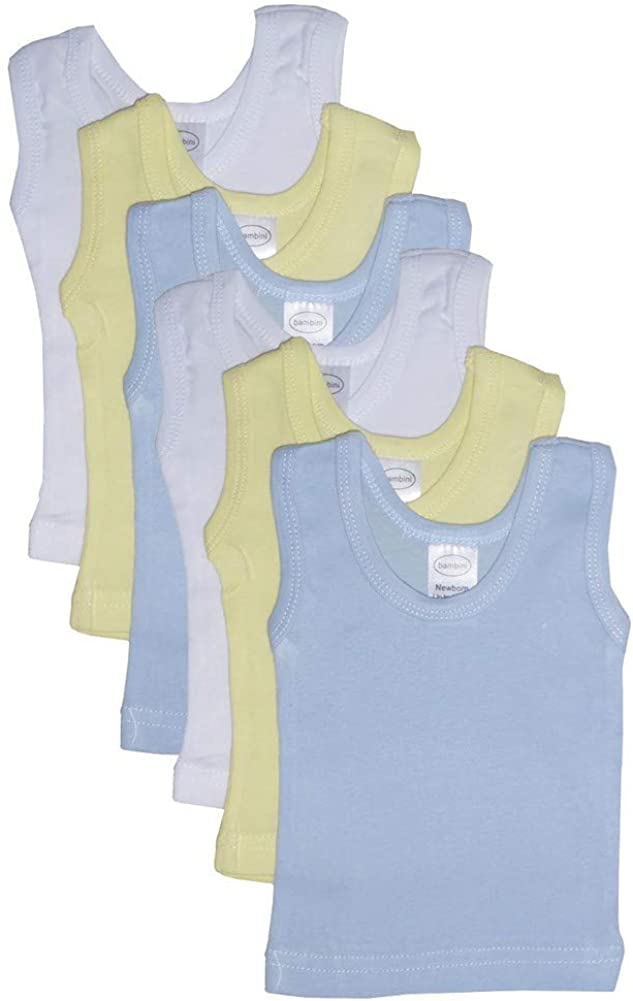 bambini Baby Boys Girls Unisex 6-Pack Sleeveless T-Shirts Tanks