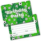 VlugTXcJ Kindergeburtstag-Party Fußball-einladungen Postkarten Und Umschläge Satz Von 20
