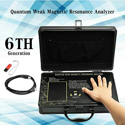 JYtop 2019 New Black 6th Generation Portable Quantum Magnetic Resonance Body Analyzer English+Korean