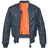 Brandit MA1 Jacke Chaqueta, azul marino, L para Hombre