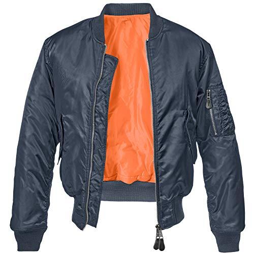 Brandit MA1 Jacke Chaqueta, azul marino, M para Hombre