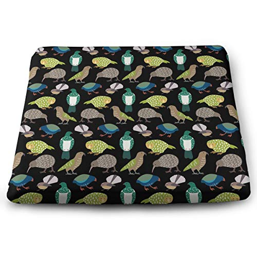 Memory Foam Pad zitkussen. Autostoel kussens om hoogte te verhogen - bureaustoel comfortabel kussen - schattig Nieuw-Zeelandse vogels wit