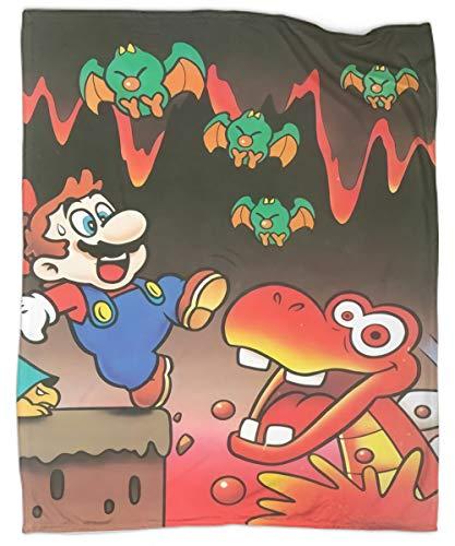 Manta ligera para todas las estaciones, diseño de Super Mario World Blargg en 3D, acogedora y cálida para todas las estaciones, para sofá de cama de 40 x 50 pulgadas
