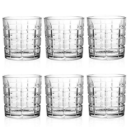 Queensway - Set di 6 bicchieri da whisky in confezione regalo, 6x Marina Whiskey Tumblers