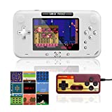 EASEGMER Handheld Games Console, 500 Retro FC Games 4 Inch Video Game Handheld Console - 12 Bit Rechargeable Game Player Support TV/AV Output & Two Players, Best Gift for Kids and Adults (White)