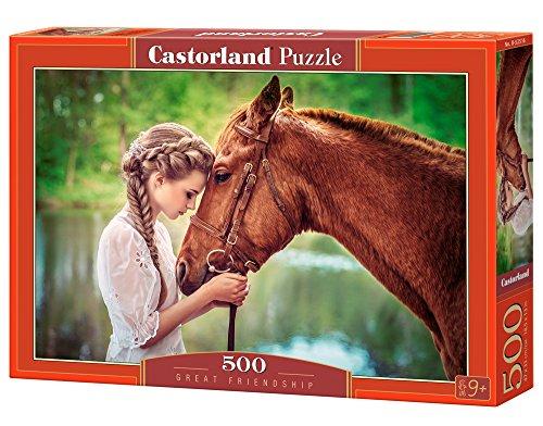 Castorland Great Friendship 500 pcs Puzzle - Rompecabezas (Puzzle Rompecabezas, Fauna, Niños y Adultos, Cabello, Niño/niña, 9 año(s))