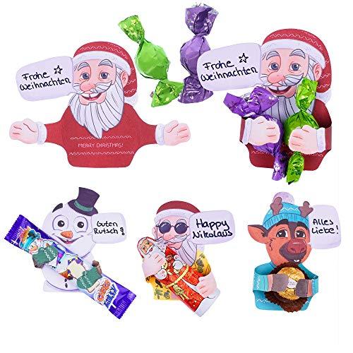 SURPRISA Sweet Hugs Set 'Weihnachten' für Schokolade, Dankeschön, individuelles kreatives Geschenk, Geburtstag, Frohe Weihnachten