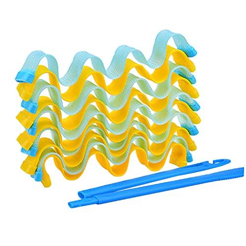 harayaa 24pcs Rizadores de pelo Rizadores de pelo Rizos en espiral Kit de peinado con ganchos de peinado Herramienta de peinado sin calefacción para cabello - 30 centimetros