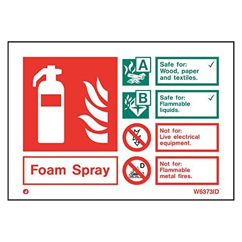 Witte stijve PVC schuim Spray brandblusser veiligheidsbord