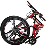 OBK G4/G6 26' Full Suspension Folding Mountain Bike 21 Speed...