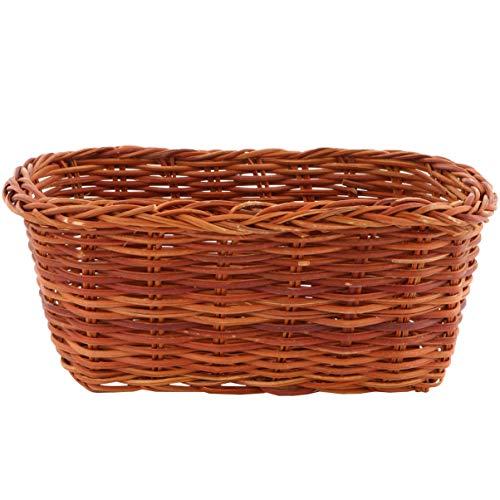 LUOEM Rectangle Small Wicker Baskets Sundries Storage Bins Willow Basket Craft Art Decor