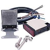 Taiss/E3JK-R4M1 - Conmutador de proximidad 12-240VDC 24-240VAC - Conmutador de sensor fotoeléctrico retrorreflectante, interruptor de proximidad (2 m, cable inducción, 4 m)