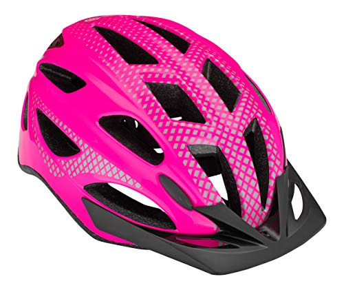 Schwinn Beam LED Lighted Bike Helmet with Reflective Design for Adults, Featuring 360 Degree Comfort System with Dial-Fit Adjustment, Gloss Pink