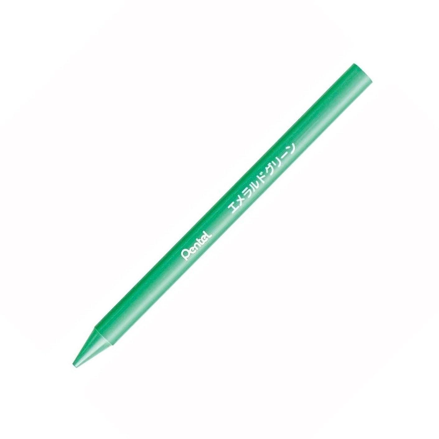 密以内に鼻ぺんてる 小学校色えんぴつ パスティック エメラルドグリーン GC-T73R