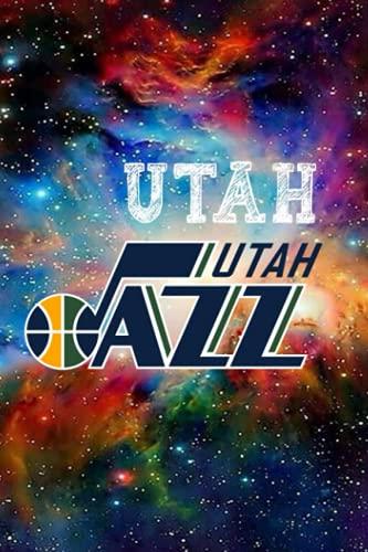Notebook : Utah Jazz Notebook Journal Enjoy An Exciting Activity With Logo Team Striped Notebook & Journal Fan Essential