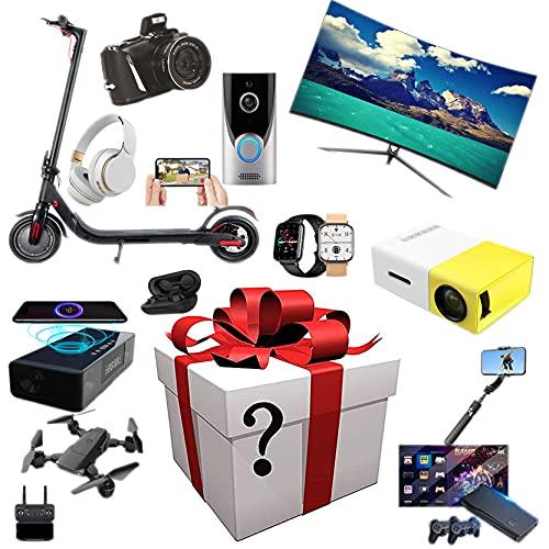 FFTUB Regalo Misterioso Fiestas Puede Obtener: Drones, Cámaras Digitales, Altavoces Inteligentes, Auriculares Bluetooth, Etc. Aleatorio