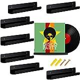 8 Stück Vinyl Schallplatten Regal Wand Schallplatten rahmen Display Regal Acryl Wandregal für Schallplatten Sammlung und Dekoration (Schwarz)
