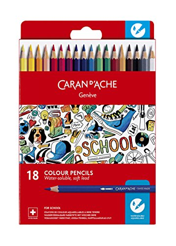 CARAN D'ACHE 1290.718 Buntstifte SCHOOL, 18er Karton-Etui