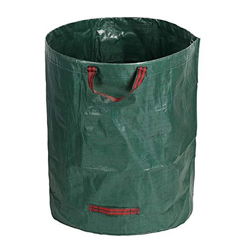 272L Gartensack Gartenabfallsack aus robustem Wasserdichtes Polypropylen-Gewebe (PP) - Selbststehend und Faltbar Laubsäcke, Abfallsäcke für Gartenabfälle Laub Rasen Pflanzen Grünschnitt