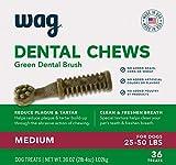 Amazon Brand-Wag Dental Dog Treats to Help Clean Teeth & Freshen Breath - Medium