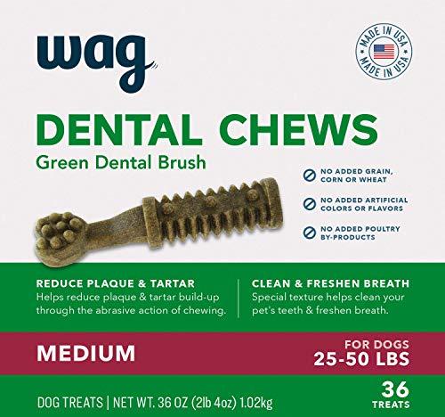 Amazon BrandWag Dental Dog Treats to Help Clean Teeth amp Freshen Breath  Medium