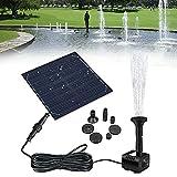 Ashtray Panel Solar Powered Water Fountain Pool Pond Garden Sprinkler Rociador de Agua con Bomba de Agua y 3 Cabezas de pulverización