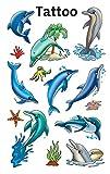 AVERY Zweckform 56439 Tattoo Kinder 13 Stück (Temporäre Tattoos Delfine, Kinder Tattoo wasserfest, Klebetattoos, Kindergeburtstag, Mitgebsel, Partyspiele Preise, Kinder zum Spielen, Kinder Geschenk) -