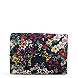 Vera Bradley womens Signature Cotton RFID Riley Compact Wallet, Itsy Ditsy,One Size