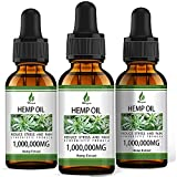 ✔ 1,000,000MG ULTRA-PURE HEMP OIL: We know that the benefit to the body is not how many drops of oils are consumed, but how many hemp extract ingredients are contained in a drop of oils. Hemyum hemp oil with 1,000,000 MG active ingredients, which hav...