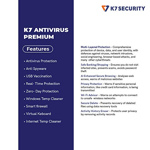 K7 Antivirus Premium- 1 User, 1 Year (Email Delivery in 2 hours - No CD) 3