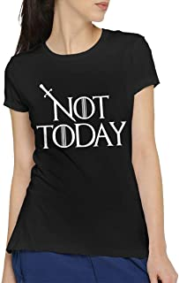 Good Tees Game Of Thrones Not Today Women's Short Sleeve T-Shirt Black