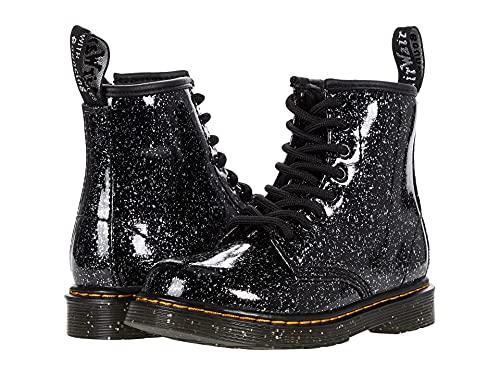 Dr. Martens Kid's Collection 1460 (Little Kid/Big Kid) Patent Glitter Boot, Black Cosmic Glitter, 9 UK (US 10 Toddler) M