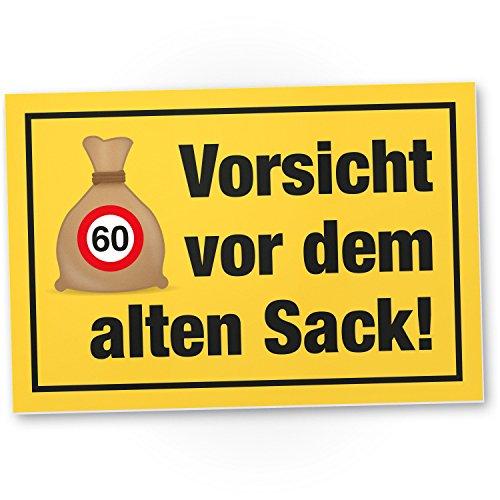 Bedankt! Vorsicht Alter Sack 60 jaar, plastic bord - cadeau 60e verjaardag, cadeau-idee verjaardagscadeau Zesstigste, verjaardagsdeco/partydecoratie/feestaccessoires/verjaardagskaart