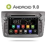 Aumume Android 9.0 Grau Autoradio für Alfa Romeo Mito mit Navi Unterstützt Autoplay Mirrorlink Bluetooth DAB (mit 16 GB Karte)