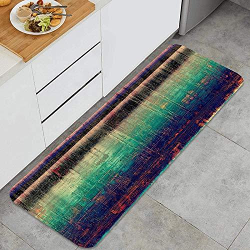 PUIO Juegos de alfombras de Cocina Multiusos,Fondo Retro Creativo Textura Antigua Vintage,Alfombrillas cómodas para Uso en el Piso de Cocina súper absorbentes y Antideslizantes