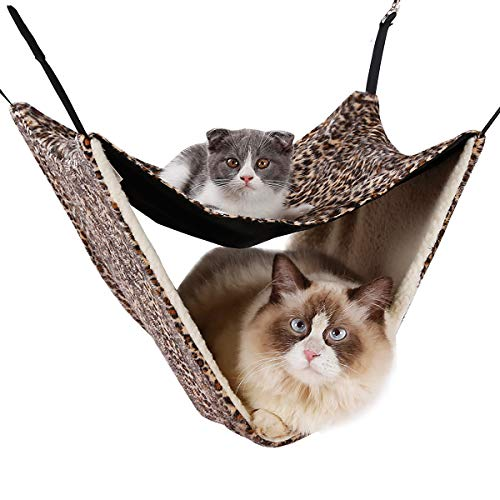 Delifur 2 Level Cat Hammock Double Layer Pet Hanging Bed (Winter)